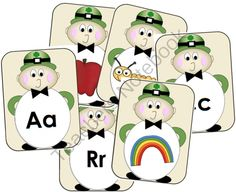 Leo the Leprechaun - Alphabet Match from RFTSPreschool on TeachersNotebook.com -  - Leo the Leprechaun Alphabet Match 26 pages   A matching set covering 26 letters of the alphabet with pictures. Each letter has a letter card and a picture card. Children can match, play memory or use as flash cards.   A cute for with a Leprecahaun