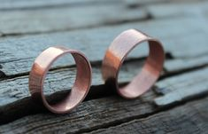 Copper Wedding Band Wide Copper Band Ring by MountainUrsusDesigns
