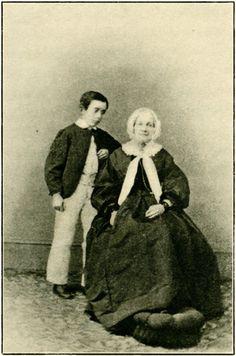 1858. Lafcadio Hearn, con unos 8 años de edad, junto a su tía abuela Sarah Holmes Brenane (1793-1871) en Dublin.