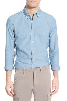 Trim Fit Long Sleeve Oxford Sport Shirt