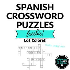 32 best spanish crosswords crucigramas images on pinterest write the names of 11 colors in spanish companion productsfind a m4hsunfo