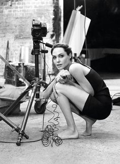 Here are interesting photos of Angelina Jolie with a Hasselblad from her photoshoot taken by Alexei Hay for the Marie Claire magazine in January 2012.