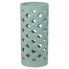 Crisscross Umbrella Stand/Vase in Turquoise-ON BACKORDER UNTIL AUGUST 2016