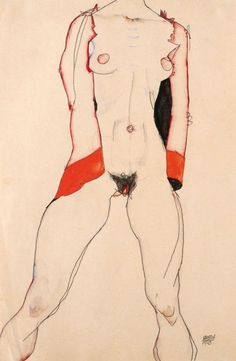 Standing Nude in Red, 1913