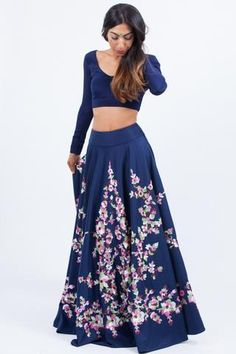 Buy jacquard blue Party wear lehenga choli with scintillating lace & embroidery work.This set is features a dark blue blouse in silk.It has matching blue lehenga in jacquard silk with beautiful embroidery all over and blue dupatta in net with lace. Blue Lehenga, Indian Lehenga, Indian Dresses, Indian Outfits, Indian Clothes, Wedding Lehenga Designs, Diwali Outfits, Party Wear Lehenga, Indian Wear