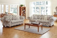 Enjoy relaxing on theSorrel 2 Piece Fabric Lounge Suite by Evan John Philp. This lounge suite epitomises classic European design and features rolled back arms.