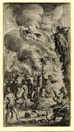 A scene in Hell with devils and flames, etching attributed to Ercole Bazzicaluva, c. 1630-1645