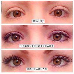 3D mascara. 300% longer lashes. Guaranteed.