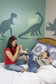 Dinosaur silhouette mural