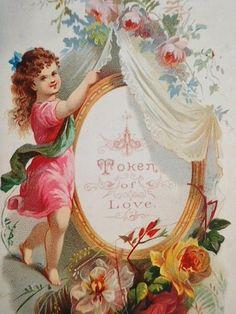 Vintage Ephemera, Vintage Cards, Vintage Postcards, Valentine Love Cards, Valentine Images, Victorian Valentines, Vintage Valentines, Vintage Roses, Decoupage