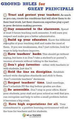 How to be a great principal.