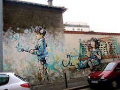 Alice Pasquini. grafitti = personal expression = art