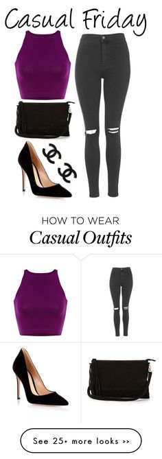 """""""Casual Friday"""" by sad11 on Polyvore featuring Topshop, Gianvito Rossi and Warehouse"""