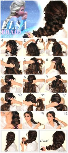 Spectacular Disney Frozen Movie Inspired Hairstyle Tutorials