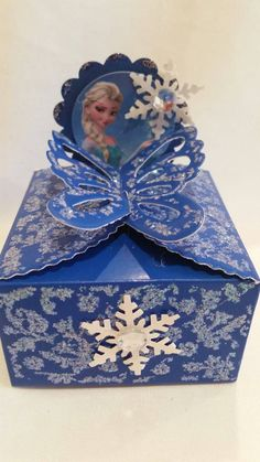 Frozen theme party favors butterfly box. Check out this item in my Etsy shop https://www.etsy.com/listing/258777331/frozen-theme-party-favors-butterfly-box