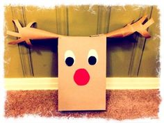 You can make Rudolph the Red Nose Reindeer out of a cereal box and some paper towel tubes! Here's what you'll need: 2 paper towel tubes 1 cereal box construction paper ( white, red an...