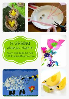 14 Spring Animal Crafts from The Kids Co-Op at B-InspiredMama.com - Perfect for Preschool or Homeschooling