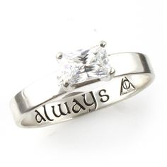 "Harry Potter ""Always"" Deathly Hallows Engagement Ring - Spiffing Jewelry"