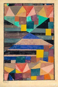 Paul Klee, Blauer Berg, 1919