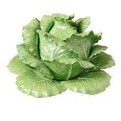 Glazed Majolica Cabbage Server