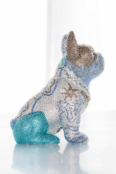 French Bruno by J. French Bulldog, Dinosaur Stuffed Animal, Edelweiss, Butterfly, Sculpture, Crystals, Dogs, Bead, Animals