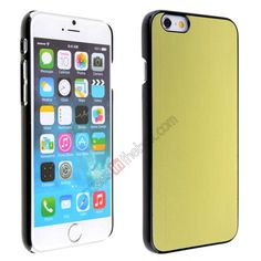 Luxury Brushed Metal Aluminum Hard Back Cover Case for iPhone 6 4.7inch - Green US$5.69