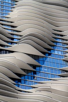 Aqua, Chicago.  Designed by a team led by Jeanne Gang of Studio Gang Architects,