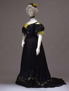 Evening dress ca. 1903. From the Galleria del Costume di Palazzo Pitti via Europeana Fashion.