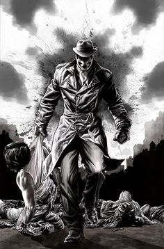 Rorschach by Lee Bermejo #Comics #Illustration #Drawing