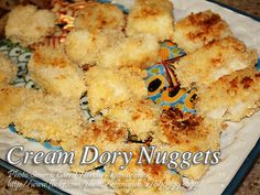 This recipe, golden cream dory nuggets can be a good appetizer or viand specially in occasions like this coming holidays. Cream dory fillet or pangasius fillet Cream Dory Recipe Fish, Fish Recipes, Seafood Recipes, Japanese Bread Crumbs, Fish Nuggets, Nuggets Recipe, Pizza Ingredients, Pinoy Food, Eat Pizza