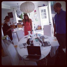 Arbeidsmøte hjemme hos meg i dag #HjemmekontorBoka2012 #home #office - @hpnhansen- #webstagram