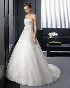豪華な ビスチェ ホール A ライン ブライダルドレス ウェディングドレス Hro0122