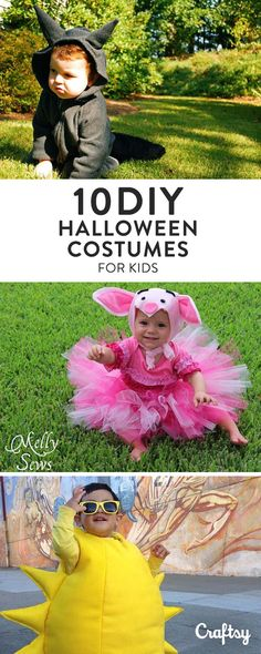 Get creative for Halloween this year with these 10 Halloween costume patterns for kids from Craftsy. They'll make your kids anything but cookie cutter!