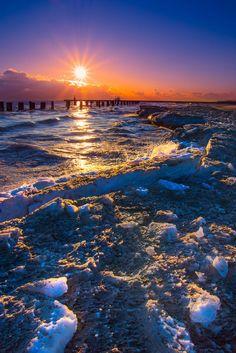 Frosty orange - Michigan Lake - Chicago - USA