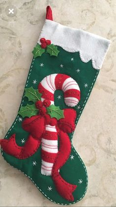 - Bucilla stocking - Hand stitched double lined stocking. - Inside of stocking is lined with christmas fabric. - Names are embroidered upon request. Christmas Crafts To Sell, Felt Christmas Decorations, Felt Christmas Ornaments, Christmas Store, Christmas Sewing, Christmas Fabric, Christmas Fun, Holiday Crafts, Christmas Tables