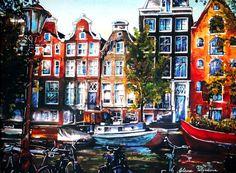 Nu in de #Catawiki veilingen: Elena Polyakova - Keizergracht in Amsterdam