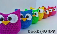 Easy, free owl amigurumi crochet pattern by KHookCreations
