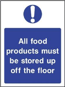 Buy this Food Products Must Be Stored Off The Floor Sign online now or explore other Kitchen safety signs and Food Hygiene Signs Food Safety And Sanitation, Food Safety Tips, Health And Safety Poster, Safety Posters, Kitchen Hygiene, Food Standards Agency, Food Cost, Restaurant Signs, Gym Food