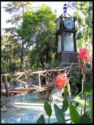 The water clock in the gardens of Villa Borghese, Rome.