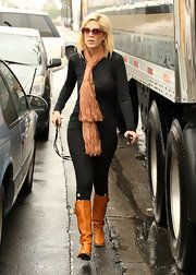 Tori Spelling Knee High Boots