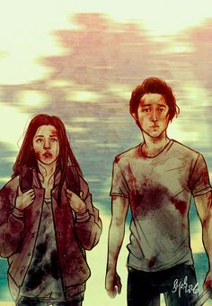 Glenn & Enid - The Walking Dead fan art