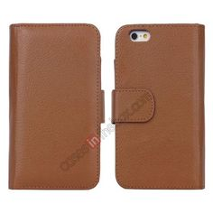 Multifunctional Wallet leather case for iPhone 6 Plus 5.5inch - Brown US$13.99