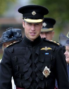 Prince William looking groomed and formal in his uniform.  Gallant.
