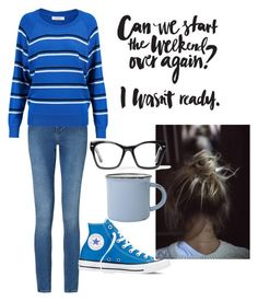 """""""Monday Blues"""" by jilld727 ❤ liked on Polyvore featuring Calvin Klein, Converse, Sandro, Spitfire and canvas"""