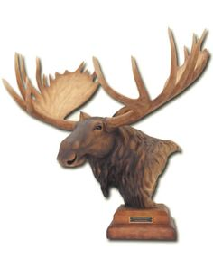 Mountain Shadow- Moose Sculpture by Artist Danny Edwards. Available at AllSculptures.com