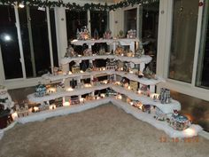 35 Stunning Christmas Village Display Ideas For Home Decoration - You can make embellishments and accessories for your Christmas village scene and make it more personal and unique. Have some fun creating decorations . Christmas Tree Village, Christmas Town, Christmas Villages, Noel Christmas, Christmas Projects, Winter Christmas, Christmas Ornaments, Christmas Mantles, Victorian Christmas