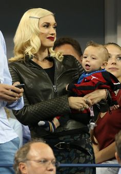 Gwen Stefani and Apollo Rossdale at the US Open | Photos | POPSUGAR Celebrity