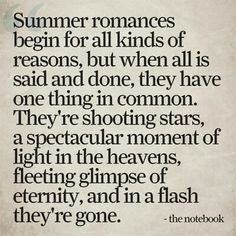 Cannot believe I'm pinning a quote from The Notebook, but it's a good one.
