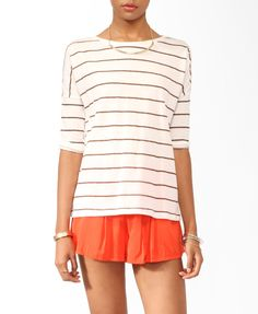 Striped Dropped Shoulder Top | FOREVER21 - 2021841220