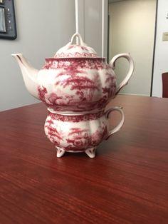 Vintage Pink Tea for One Tea Set by LosChapines on Etsy